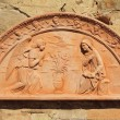Annunciation in tuscterracotton wall in Tuscany, Italy, — Stock Photo #21594209