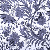 Floral blue damask background — Stock Photo