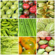 Vegetable farmer market collage — Stock Photo #21960941