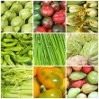 Vegetable farmer market collage — Stock Photo