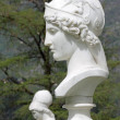 Bust of Athena in italian garden of Villa Melzi in Bellagio, Ita - 图库照片