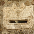 Marble vintage letterbox in Italy — Stock Photo