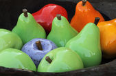 Colorful decorative fruits — Stock Photo