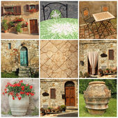 Tuscan lifestyle collage, Italy, Europe — 图库照片