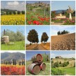 Poster with amazing beauty of tuscan scenery, Italy, Europe — Stock Photo