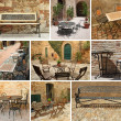 Vintage garden furniture collage, Italy, Europe — Stock Photo