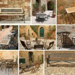 Royalty-Free Stock Photo: Vintage garden furniture collage, Italy, Europe