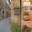 Romantic abstract street collage, Italy, Europe — Stock Photo