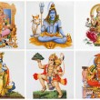 Poster with hindu gods on ceramic tiles — Stock Photo