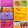 Colorful leather handbags collection, Italy, Europe — Stock Photo