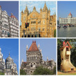 Royalty-Free Stock Photo: Collage with landmarks  of Mumbai city ( formerly Bombay) , Indi