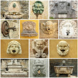Vintage  street  water source collage - Italy — Foto Stock