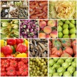 Mediterranean diet collage — Stock Photo