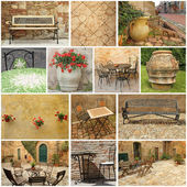 Living in Tuscany - collage — Stock Photo