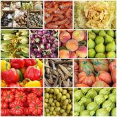 Mediterranean diet collage — Stock Photo