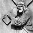 Stock Photo: Christ Carrying the Cross - detail of antique relief, Italy, Eur