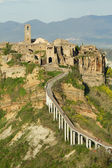 Spectacular view of Civita di Bagnoregio , called the dying town — Stock Photo