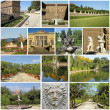 Boboli Garden collage, Florence, Tuscany, Italy, Europe — Stock Photo