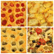 4 popular assorted focaccia set — Stock Photo