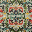 Foto Stock: Baroque floral pattern
