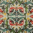 Stock Photo: Baroque floral pattern