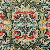 Teste padrão floral barroco — Foto Stock