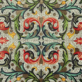 Baroque floral pattern — Stock Photo