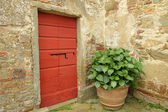 Nook on tuscan courtyard, Gargonza, Italy, Europe — Stockfoto
