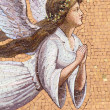 Antique angelic decoration, mosaic on wall in Italy — Stock Photo