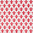 Foto Stock: Decorative paper with red lily of Florence pattern, Florence, I