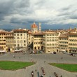 Aerial view of Santa Maria Novella Square and city of Florence, — Stock Photo #28081451