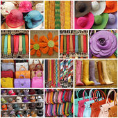 Colorful women accessories, images from shop windows in Italy — Stock Photo