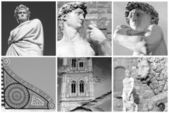 Florentine art collage — Stock Photo