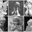Angelic collage — Stockfoto