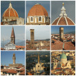 Florentine roofs collage, Florence, Tuscany, Italy, Europe — Foto Stock