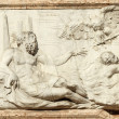 The bas-relief  by  Danese Cattaneo : Allegory of island Crete ( — Stock Photo