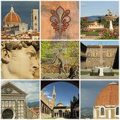 ορόσημα της φλωρεντίας κολάζ, φλωρεντία, τοσκάνη, ιταλία, ευρώπη — Φωτογραφία Αρχείου