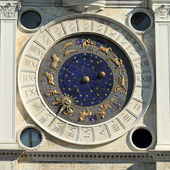 The historic clock face on St Mark's Clock tower, Piazza San Mar — ストック写真