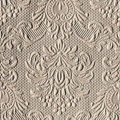 Ornamental light brown wallpaper — Stock Photo