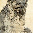 Lion sculpture from Boboli Gardens, place of Medici family resid — Stock Photo