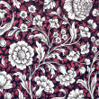 Dark red , white and black floral ornamental paper background — Stock Photo