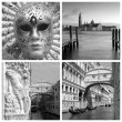 Landmarks of Venice collage  — Stock Photo