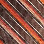 Fabric with diagonal various widths colorful stripes as backgro — Stock Photo