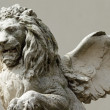 Stock Photo: Winged venetilion sculpture