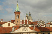 View of Vicenza old town from the roof of the Basilica Palladian — Stock Photo