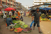 Vegetable farmers market in India — Foto Stock