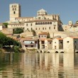 Cathedral and river Duero in old town of Zamora, Castile and Le — Stock Photo