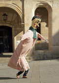 ZAMORA, SPAIN - AUGUST 29: Many latin festivals include costumed — Foto Stock