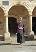 Figure dressed as bishop in Spain — Foto Stock