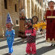 ZAMORA, SPAIN - AUGUST 29: Many latin festivals include costumed — Stock Photo